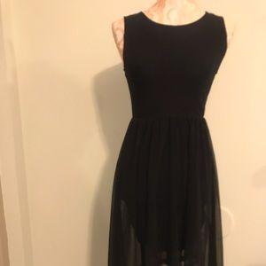 Black Dress Hi-Lo Dress